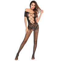 Wholesale three point perspective - Cross-border 2018 explosions perspective three-point sexy lingerie tight-fitting milk open file super sexy connected clothing Free Shipping