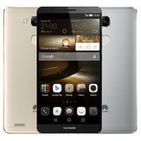 двухъядерный смартфон оптовых-Восстановленный оригинальный Huawei Mate 7 4G LTE 6.0 дюймов Окта ядро 2 ГБ/3 ГБ оперативной памяти 16 ГБ / 32 ГБ 13MP Dual SIM Android Smart мобильный телефон сообщение 1 шт.