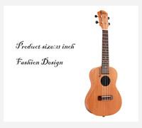 guitarra ukelele de 21 pulgadas al por mayor-21 pulgadas 15 Trastes Soprano Ukelele Guitarra Uke Sapele Rosewood 4 Cuerdas Guitarra Hawaiana Instrumentos Musicales Para Principiantes