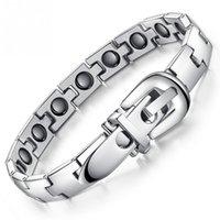 стиль здоровья оптовых-Пряжка ремня стиль браслет Титана стальной Магнитный браслет Спорт здравоохранения магнитный сопротивляться устали