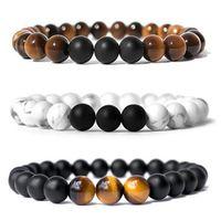 Wholesale balance charms resale online - Styles Mens Natural Stone Bracelet Fashion Stretch Bracelet Energy Yoga Beads Charms Healing Balancing Bracelet Jewelry B574SF