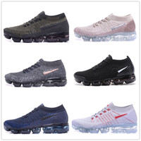 Wholesale soft shock shoes online - 2018 air Cushion Running Shoes Men Women Classic Outdoor Run Shoes Black White Sport Shock Jogging Walking Hiking Sports Athletic Sneakers