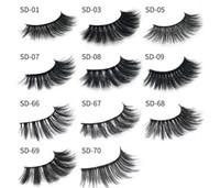 Wholesale Long Black Hair Extensions - 11 styles Selling 1pair lot 100% Real Siberian 3D Mink Full Strip False Eyelash Long Individual Eyelashes Mink Lashes Extension