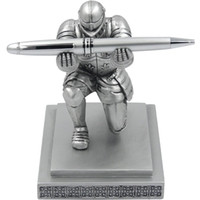 caneta executiva preta venda por atacado-Executive Knight Executive Pen Holder - Fancy Black-Inked Pen com tinta recarregável incluído, presente de Natal, presente de aniversário