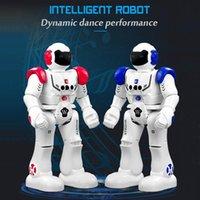 roboterprogramm großhandel-RC Robot Intelligente Programmierung Fernbedienung Robotica Humanoid Robot Walk Slide Tanzmusik Talk Demostration Interaktiv Induktiv