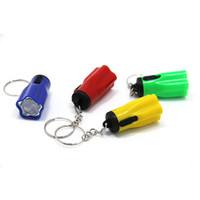 Wholesale torch key rings resale online - Plastic Led Flashlights Super Mini With Key Ring Portable For Outdoor Camping Hiking Torch Flower Petal Shape ch ZZ