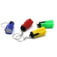 ingrosso ha condotto il mini anello chiave-Plastica led flsahlights super mini tazer con portachiavi portatile per campeggio esterna escursionismo torcia fiore petalo forma designer 0 35ch zz