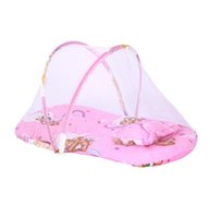 Wholesale infants mattress mosquito nets resale online - Small Portable Folding Baby Mosquito Net Baby Infant Cushion Mattress Pillow Mosquito Net Bed