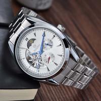 relojes muñeca luna al por mayor-GOER Nuevos Hombres Relojes Mecánicos de Lujo Marca Automática Relojes Mecánicos Luna fase Relogio Masculino