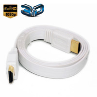 Wholesale Computers Tv - 1M HDMI Cable 3D 1080P Male to Male for HD TV LCD Laptop PS4 Xbox Projector Computers Cable