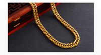 mann reines gold armband großhandel-Neues reines Kupfer Männer Halskette Edles Armband 24K Gold überzogene Schmucksachen Perfect Geschenk-Zusätze Europa und Vereinigte Staaten Goldhalsketten geben frei