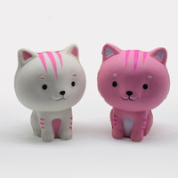 Wholesale toy sweets resale online - Jumbo Pink White squishy cat Kawaii Cute Animal Slow Rising Sweet Scented Vent Charms Bread Cake Kid Toy Doll Gift Fun