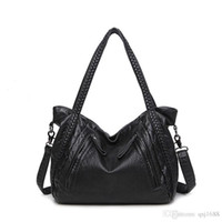 Wholesale Larger Women - High Quality Soft PU Leather Top-handle Bag Fashion Women messenger Bag Larger Shoulder Bags Waterproof