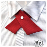 Wholesale crossover ties - 2018 Fashion Men and Women crossover burgundy Bow tie School Ascot Student Bowtie