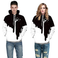 Wholesale 3d sweaters - Fashion Milk Cup Pattern 3D Printing Hooded Sweater Casual Hooded Couple Baseball Clothing