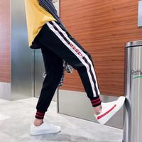 Discount black pants red stripe - Side Striped Patchwork Harem Men's Pants Mens Hip Hop Printed Designer Casual Joggers Sweatpants Trousers Male Streetwear Sport Track Pants