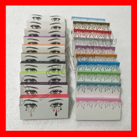 Wholesale long black hair - Famous False Eyelashes 20 models Eyelash Extensions handmade Fake Lashes Voluminous Fake Eyelashes For Eye Lashes Makeup free shipping