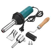 Wholesale hot air gun nozzle - 1080W 220V 50Hz Plastic Hot Air Welding Gun with Pencil Tip Nozzle & Flat Tip & Pressure Roller Heat Gun Kit for Welder Machine