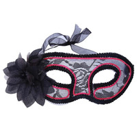Wholesale princess mask for children for sale - New EL Mysterious Princess Side Flowers Pink Glow Holiday Party Mask For Masquerade New Year Venetian Costumes Carnival Mask