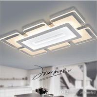 şehir lambaları toptan satış-Sky City Ultra-ince Akrilik Modern oturma odası yatak odası için led tavan ışıkları Çalışma Odası Ev Aralık Led Tavan Lambası
