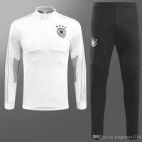 Wholesale Germany Suits - Germany Training Suit Maillot de Foot 2018 2019 germany Survetement Football Chandal Soccer Tracksuit Marseilles Training suit jackets kits