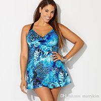 Wholesale plus sized swimwear for women for sale - Plus Size One Piece Swimsuit Skirt Push Up Swimwear Women Dress Bathing Suit Large Size Swim Suit For Fat Women