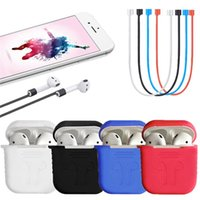 étui étanche iphone achat en gros de-Housse de protection en silicone Link PodStraps pour iPhone 7 Plus écouteurs sans fil Bluetooth étanche anti-chute avec boîte de vente au détail