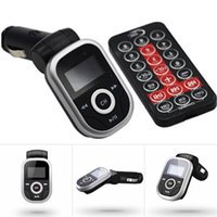 Wholesale mp3 player controller resale online - Universal LED Screen Car Kit MP3 Player With Remote Controller Multi Functional Car Kit MP3 USB TF Media Player With Radio FM