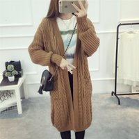 Wholesale sale cardigan long sweaters - Spring Women Twist Cardigan Sweater Women Warm Top Casual Long Sleeves Oversize Coat Top Clothing For Sales