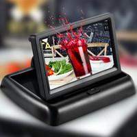 video panelleri toptan satış-Yeni 4.3 inç Araba Video Oynatıcı HD Katlanabilir TFT LCD Ekran Dikiz Monitör Ekran Dijital Panel DDA285