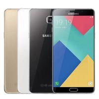 Wholesale pro back - Refurbished Original Samsung Galaxy A9 Pro A9100 Dual SIM 6.0 inch Octa Core 4GB RAM 32GB ROM 16MP 4G LTE Android Smart Phone Free DHL 1pcs