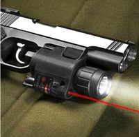лазерный светодиодный пистолет оптовых-Пистолет красный лазер комбо охота прицел 650nm тактический светодиодный фонарик переключатель кнопка для винтовки пистолет Пистолет страйкбол выстрел #JGSD