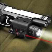 pistola táctica al por mayor-Pistola láser rojo Combo caza vista Alcance 650nm Tactical LED lentejuela Interruptor botón para rifle Pistola Pistola Airsoft tiro #JGSD