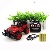 radio v al por mayor-Radio Control Buggies Niños Juguetes de energía eléctrica Boy Jeep 1:20 Niños Vehículos para niños Coche remoto Cross Country Charge Creative 24 8yz V