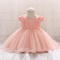 neugeborene erste kleidung großhandel-Baby-Kleid-Kleinkind-Mädchen-Prinzessin Wedding Dress First Birthday Neugeborene Partei-Kleider Spitze-Baby-Taufe-Säuglingskleidung