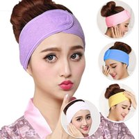 Wholesale wide white headband - 2018 Mommy Headband Cotton Yoga Wide Soft Lady Turban Head Wrap Hairband For Woman Makeup 6 Colors