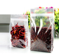 Wholesale Grip Seal Bags - 10x20cm Stand up high Transparency PET ZipLock Bags Clear Reusable plastic pouches zipper grip seal food pack