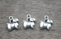 schafcharme anhänger großhandel-25pcs / lot - Schaf-Charme, antike tibetanische silberne Mini-Schaf-Charmeanhänger, Tiercharme 12x14mm