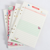 Wholesale cartoon spiral notebook resale online - New cute creative spiral notebook inner paper core cartoon candy holes kinds daily weekly planner blank account paper A5