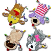 Wholesale cloth stuffed dogs for sale - Group buy Infant Baby Comfort Soft Towel Newborn Dog Mouse Stuffed Toys Appease Towel Plush Rattles Toy Animals Blanket Burp Cloths AAA1314