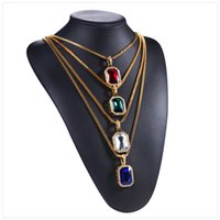 Shop glass rectangular pendants uk glass rectangular pendants free 2018 explosion rectangular colored gems alloy diamond party party party pendant necklace high quality gemstone anti allergy material necklac aloadofball Image collections