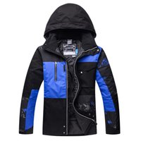 Wholesale mens ski jacket waterproof - men snowboarding jackets Waterproof Breathable Printing Winter Thick Outdoor Mountaineering Mens Ski Coat Thermal Skiing Gear