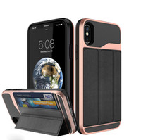 Wholesale Thin Magnetic Case Iphone - Multi-Function smart cover case magnetic ultra thin card wallet combo hybrid cover skin for iPhone 6 7 8 and Plus iPhone X