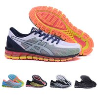 Wholesale summer mens style shoes - 2018 Asics Gel-Quantum 360 CM buffer Running Shoes Mens Womens White dark blue orange Style Outdoor Sport Shoes Sneakers Eur 36-45