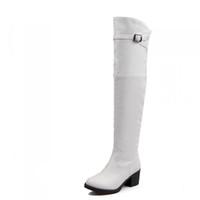 glissière blanc fermeture plus épais côté les haute genou neige 40 bottes d à au hiver jambe talon taille Bottes avec zVUMpS