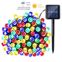 Wholesale pumpkin lights - 12m 22m LED Solar Lamp LED String Fairy Lights Garland Christmas Solar Light for Outdoor Wedding Garden Party Decoration