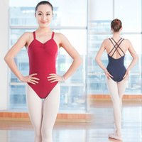 Adult Dance Practice Clothes Gymnastics Leotards Backless Sleeveless  Spandex Cotton Ballet Leotards For Women Ballet Dancewear 9b087f4f8