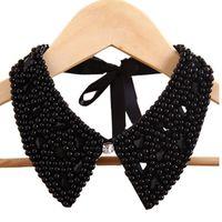 ingrosso collana di cristallo dei monili fatti a mano della perla-Gioielli fatti a mano nuova moda vintage collare di cristallo collana pendente perle di pizzo perle collane collari accessori regalo all'ingrosso
