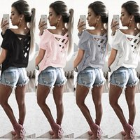Hot selling New Summer Women Sexy Backless T-shirts Pure Color Back Strap Pullovers Shirts Tee Sexy tee Top
