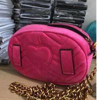 Wholesale Heart Shaped Red Handbag - Marmont brand bag Autumn And Winter stlye Most popul luxury handbags women bag designer mini messenger bags feminina velvet girl waist bag